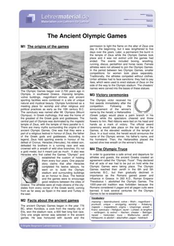 Vorschaugrafik 1 für das  Arbeitsblatt The Ancient Olympic Games von Lehrermaterial.de.
