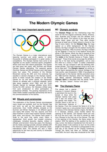 Vorschaugrafik für das  Arbeitsblatt The Modern Olympic Games von Lehrermaterial.de