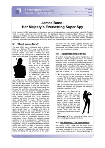 Vorschaugrafik 1 für das  Arbeitsblatt James Bond: Her Majesty's Everlasting Super Spy von Lehrermaterial.de.