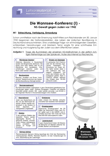 Vorschaugrafik 1 für das  Arbeitsblatt Die Wannsee-Konferenz (I) - NS-Gewalt gegen Juden vor 1942 von Lehrermaterial.de.