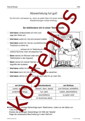 Vorschaugrafik 1 für das kostenlose Arbeitsblatt Abwechslung tut gut! von Lehrermaterial.de.