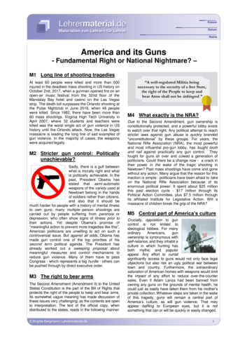 Vorschaugrafik 1 für das  Arbeitsblatt America and its Guns von Lehrermaterial.de.