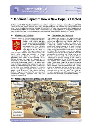Vorschaugrafik 1 für das  Arbeitsblatt Habemus Papam: How a New Pope is Elected von Lehrermaterial.de.