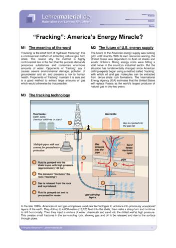 Vorschaugrafik 1 für das  Arbeitsblatt Fracking: America's Energy Miracle? von Lehrermaterial.de.