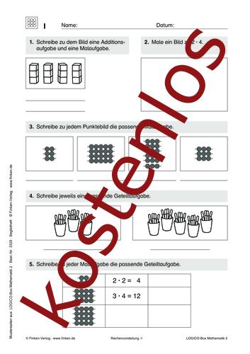 Vorschaugrafik 1 für das kostenlose Arbeitsblatt LOGICO-Box: Rechenvorstellung von Lehrermaterial.de.
