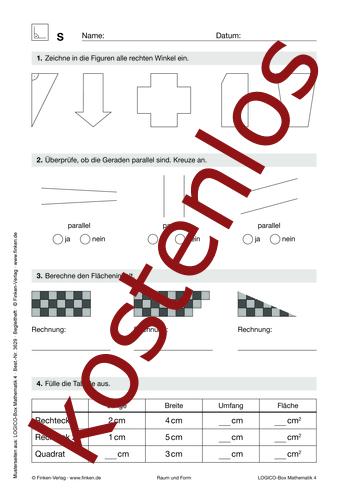 Vorschaugrafik 1 für das kostenlose Arbeitsblatt LOGICO-Box: Raum und Form (I) von Lehrermaterial.de.