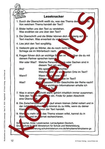 Vorschaugrafik 1 für das kostenlose Arbeitsblatt LOGICO-Box: Leseknacker von Lehrermaterial.de.