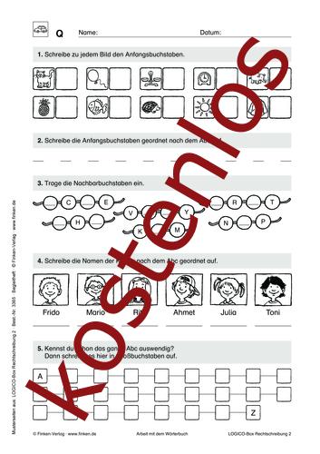 Vorschaugrafik 1 für das kostenlose Arbeitsblatt LOGICO-Box: Arbeit mit dem Wörterbuch von Lehrermaterial.de.
