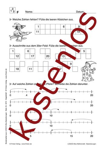 Vorschaugrafik 1 für das kostenlose Arbeitsblatt LOGICO-Box: Zahlenraum bis 20 von Lehrermaterial.de.