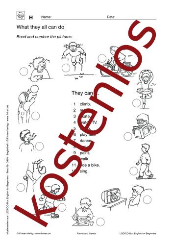 Vorschaugrafik 1 für das kostenlose Arbeitsblatt LOGICO-Box: What they all can do von Lehrermaterial.de.