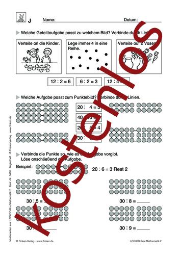 Vorschaugrafik 1 für das kostenlose Arbeitsblatt LOGICO-Box: Multiplikation und Division (I) von Lehrermaterial.de.