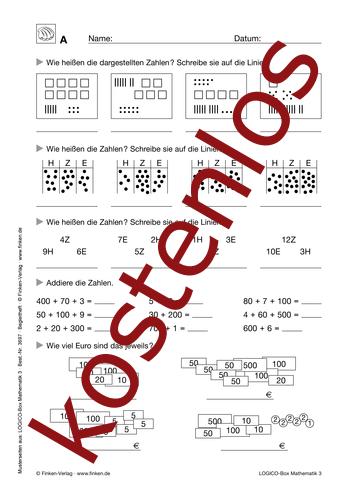 Vorschaugrafik 1 für das kostenlose Arbeitsblatt LOGICO-Box: Orientierung im Zahlenraum (III) von Lehrermaterial.de.