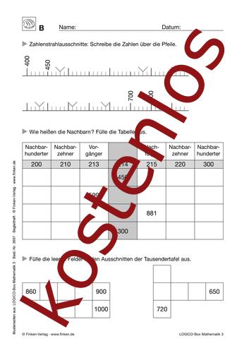 Vorschaugrafik 1 für das kostenlose Arbeitsblatt LOGICO-Box: Orientierung im Zahlenraum (IV) von Lehrermaterial.de.