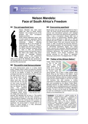 Vorschaugrafik 1 für das  Arbeitsblatt Nelson Mandela: Face of South Africa's Freedom von Lehrermaterial.de.