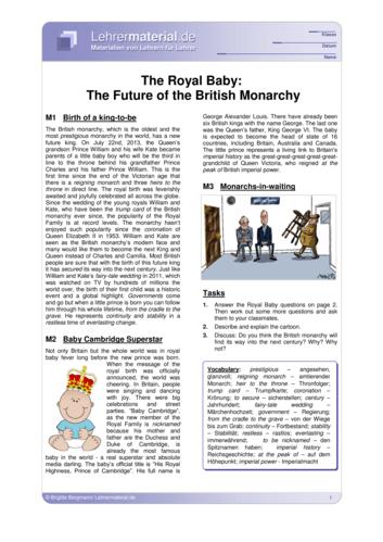 Vorschaugrafik 1 für das  Arbeitsblatt The Royal Baby: The Future of the British Monarchy von Lehrermaterial.de.
