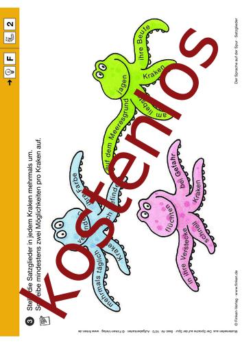 Vorschaugrafik 1 für das kostenlose Arbeitsblatt Der Sprache auf der Spur: Satzglieder (II) von Lehrermaterial.de.