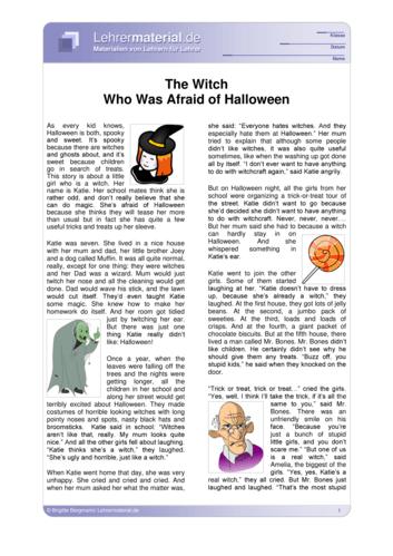 Vorschaugrafik 1 für das  Arbeitsblatt The Witch Who Was Afraid of Halloween von Lehrermaterial.de.