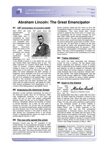 Vorschaugrafik 1 für das  Arbeitsblatt Abraham Lincoln: The Great Emancipator von Lehrermaterial.de.