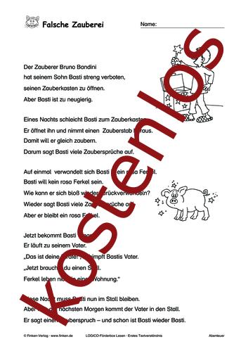 Vorschaugrafik 1 für das kostenlose Arbeitsblatt LOGICO-Box: Falsche Zauberei von Lehrermaterial.de.