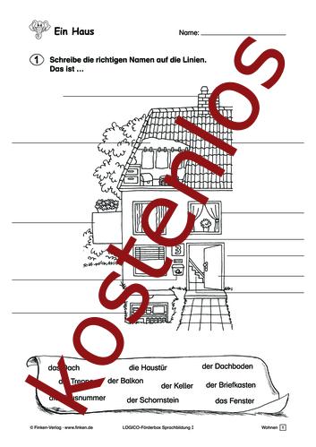 Vorschaugrafik 1 für das kostenlose Arbeitsblatt LOGICO-Box: Ein Haus von Lehrermaterial.de.