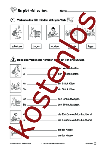 Vorschaugrafik 1 für das kostenlose Arbeitsblatt LOGICO-Box: Es gibt viel zu tun von Lehrermaterial.de.
