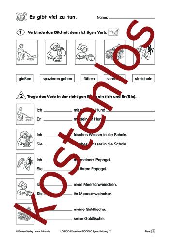 Vorschaugrafik 1 für das kostenlose Arbeitsblatt LOGICO-Box: Es gibt viel zu tun (2) von Lehrermaterial.de.