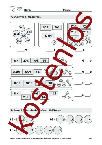Vorschaugrafik 1 für das kostenlose Arbeitsblatt LOGICO-Box: Zahlenraum bis 1000 (IX) von Lehrermaterial.de.