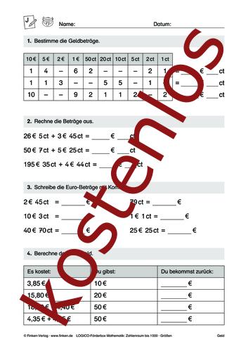 Vorschaugrafik 1 für das kostenlose Arbeitsblatt LOGICO-Box: Zahlenraum bis 1000 (X) von Lehrermaterial.de.