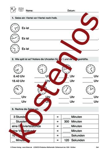 Vorschaugrafik 1 für das kostenlose Arbeitsblatt LOGICO-Box: Zahlenraum bis 1000 (XI) von Lehrermaterial.de.