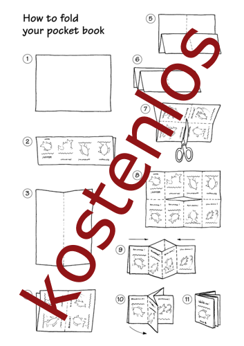 Vorschaugrafik für das kostenlose Arbeitsblatt Pocket stories - How to fold your book von Lehrermaterial.de