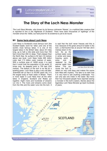 Vorschaugrafik 1 für das  Arbeitsblatt The Story of the Loch Ness Monster von Lehrermaterial.de.