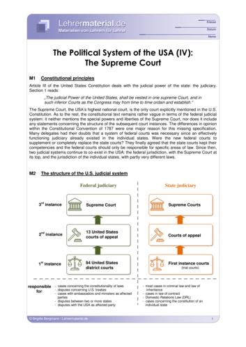 Vorschaugrafik 1 für das  Arbeitsblatt The Political System of the USA (IV): The Supreme Court von Lehrermaterial.de.