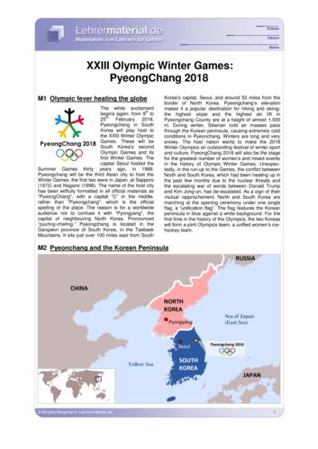 Vorschaugrafik 1 für das  Arbeitsblatt XXIII Olympic Winter Games: PyeongChang 2018 von Lehrermaterial.de.