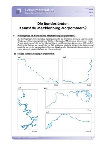 Vorschaugrafik 1 für das  Arbeitsblatt Die Bundesländer: Kennst du Mecklenburg-Vorpommern? von Lehrermaterial.de.