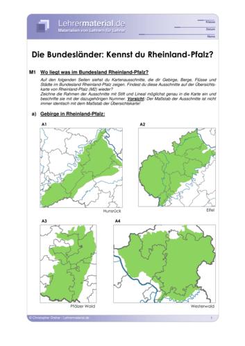Vorschaugrafik 1 für das  Arbeitsblatt Die Bundesländer: Kennst du Rheinland-Pfalz? von Lehrermaterial.de.