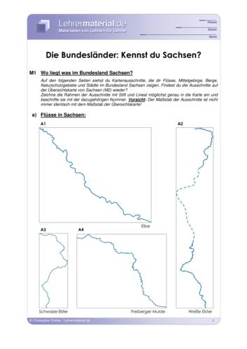 Vorschaugrafik 1 für das  Arbeitsblatt Die Bundesländer: Kennst du Sachsen? von Lehrermaterial.de.