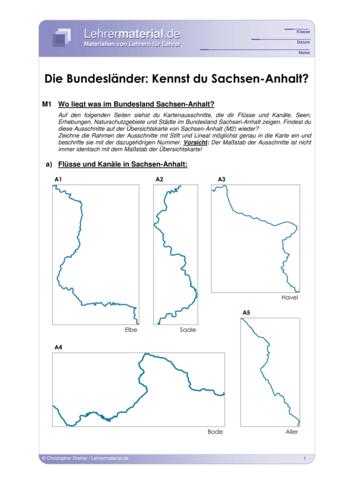 Vorschaugrafik 1 für das  Arbeitsblatt Die Bundesländer: Kennst du Sachsen-Anhalt? von Lehrermaterial.de.