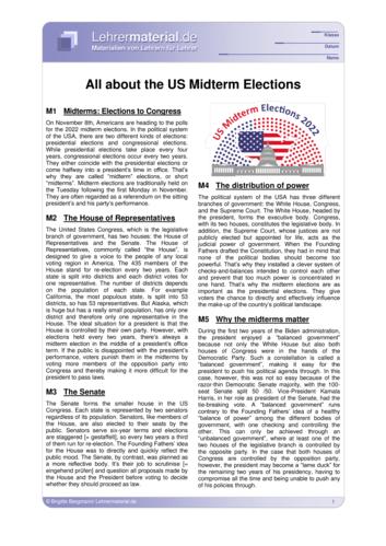 Vorschaugrafik 1 für das  Arbeitsblatt All about the US Midterm Elections von Lehrermaterial.de.