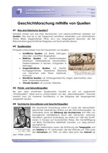 Vorschaugrafik 1 für das  Arbeitsblatt Geschichtsforschung mithilfe von Quellen von Lehrermaterial.de.