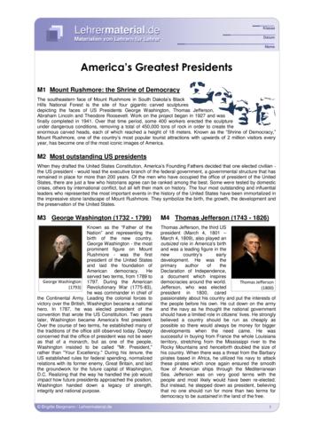 Vorschaugrafik für das  Arbeitsblatt America's Greatest Presidents von Lehrermaterial.de