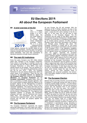 Detailseite für das  Arbeitsblatt EU Elections 2019: All about the European Parliament öffnen