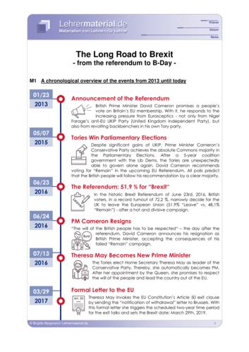 Vorschaugrafik 1 für das  Arbeitsblatt The Long Road to Brexit von Lehrermaterial.de.