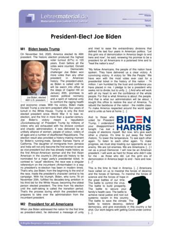 Detailseite für das  Arbeitsblatt President-Elect Joe Biden öffnen