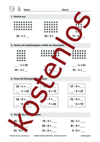 Vorschaugrafik 1 für das kostenlose Arbeitsblatt LOGICO-Box: Zahlenraum bis 100 (IX) von Lehrermaterial.de.