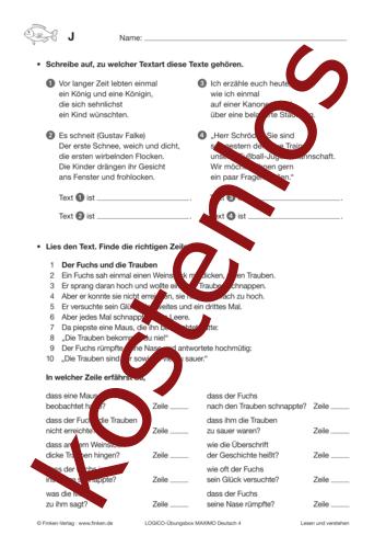 Vorschaugrafik 1 für das kostenlose Arbeitsblatt LOGICO-Box: Texte und Textarten von Lehrermaterial.de.