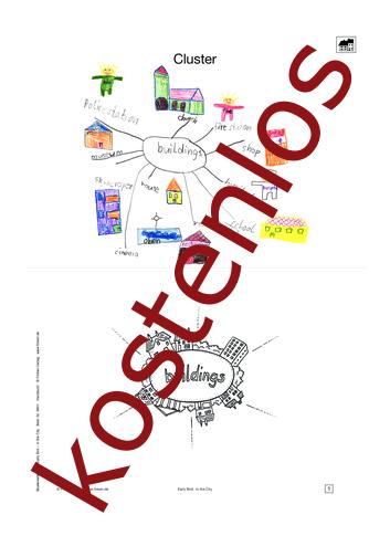 Vorschaugrafik 1 für das kostenlose Arbeitsblatt Early Bird - My Town (II) von Lehrermaterial.de.