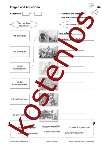 Vorschaugrafik 1 für das kostenlose Arbeitsblatt Komm zu Wort: Fragen und Antworten von Lehrermaterial.de.