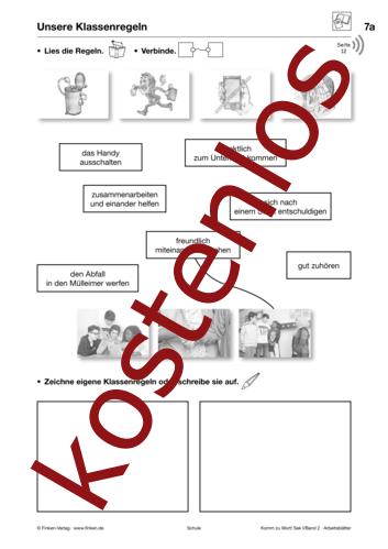 Vorschaugrafik 1 für das kostenlose Arbeitsblatt Komm zu Wort: Unsere Klassenregeln von Lehrermaterial.de.