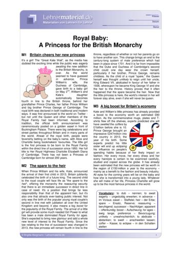 Vorschaugrafik 1 für das  Arbeitsblatt Royal Baby: A Princess for the British Monarchy von Lehrermaterial.de.