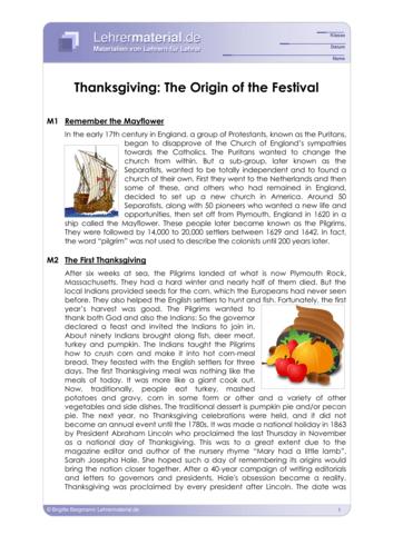 Vorschaugrafik für das  Arbeitsblatt Thanksgiving - The Origin of the Festival von Lehrermaterial.de